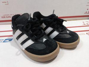 Adidas Vintage Samba Leather Shoe Infant/Toddler Black SZ 6K US Pre-Owned for Sale in San Jacinto, CA