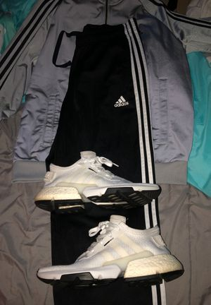 Adidas Tracksuit (M) and Adidas POD Shoes (Size 9) for Sale in Corona, CA