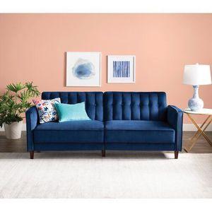Wayfair Nia Pin Tufted Convertible Sofa in Blue for Sale in Arlington, VA