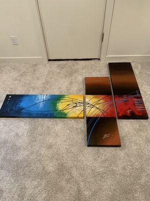 Rainbow canvas art for Sale in Seattle, WA