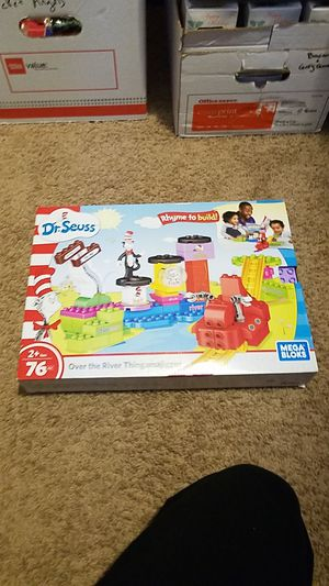 Dr Seuss Mega Bloks Sealed 76pcs Over the River Thingamajigger Lego-like Building Toy for Sale in Lacey, WA