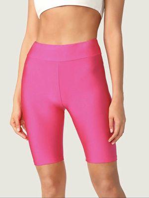 Neon Pink Sheeny Biker Shorts for Sale in Fontana, CA