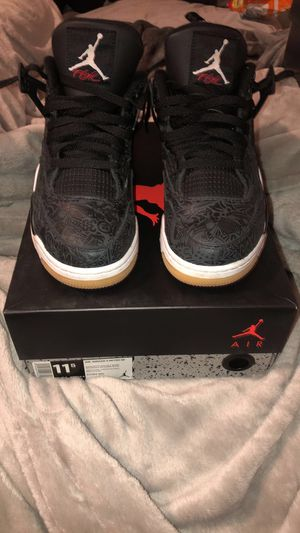 Jordan Retro 4 Black Laser Gum for Sale in Portland, OR