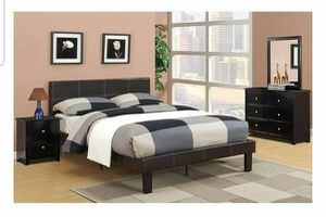 BRAND NEW TWIN BED AVAILABLE IN FULL ADD DRESSER NIGHTSTAND AND ADD MATTRESS AVAILABLE ALL NEW for Sale in Riverside, CA