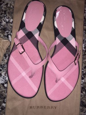 Women's Limited Edition Burberry Flip Flops for Sale in Acworth, GA