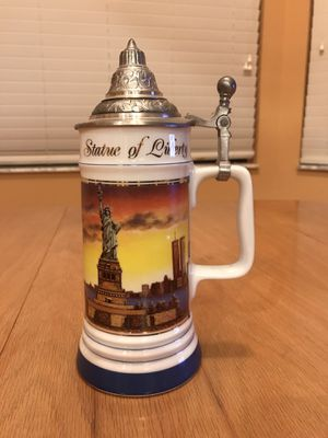 Statue Of Liberty New York beer mug lidded for Sale in Wellington, FL