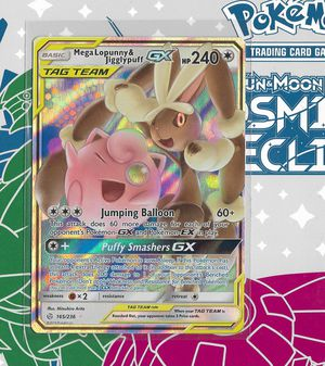Pokemon: Mega-Lopunny & Jigglypuff GX Tag Team #165 (Cosmic Eclipse) + Build-Your-Own Booster for Sale in Chesilhurst, NJ