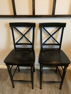 """Two solid wood hight counter stools !!!! 26"""" H for Sale in Vancouver, WA"""
