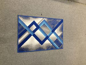 Door mat brand new blue and grey color for Sale in Salem, OR