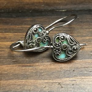 turquoise and marcasite earrings - Small Hearts for Sale in Glendale, CA