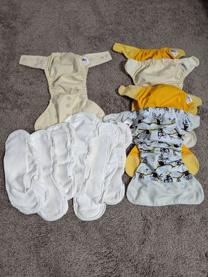 Various brands of cloth diapers for Sale in Sanctuary, TX