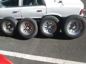 "15"" American Racing Chrome Rims 5 x 4.5 Bolt TOYO 205/70R15 Tires for Sale in Oregon City, OR"