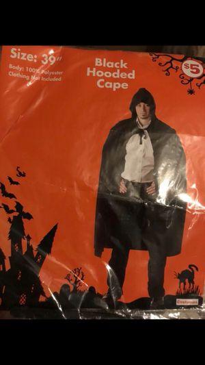 Halloween black hooded Cape for Sale in Deltona, FL