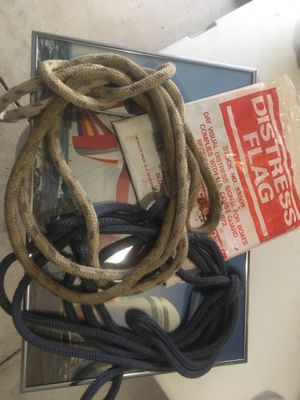 New Boat Distress flag and two 12' Boat tie ropes for Sale in Dublin, OH
