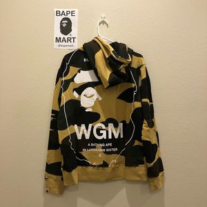 Bape hoodie yellow camo (fits like medium/large) for Sale in Los Angeles, CA