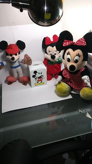Walt Disney. Mickey and Minnie mouse stuffed animals lot for Sale in Manheim, PA