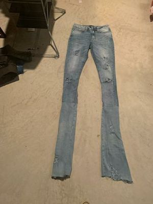 Custom stacked jeans size 32 for Sale in UPPR MARLBORO, MD