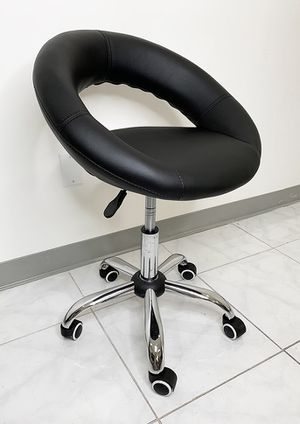 New $30 Round Stool w/ Back Rest Salon Medical Swivel Hydraulic Seat Chair Rolling Wheels for Sale in South El Monte, CA