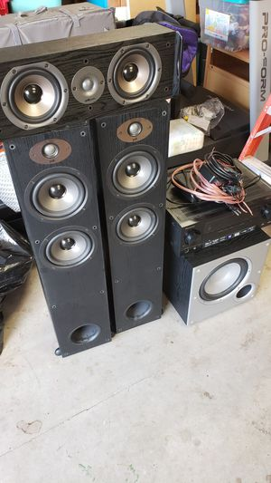 Pioneer Amp with Polk Speakers with Subwoofer for Sale in Portland, OR