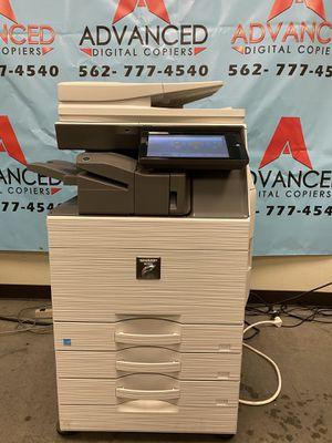 SHARP MX-5050 digital color copier printer scanner fax 3trays duplex staple finisher for Sale in Gardena, CA