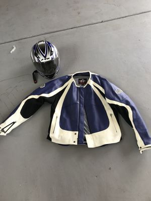 Icon motorcycle jacket and helmet for Sale in Bristol, PA