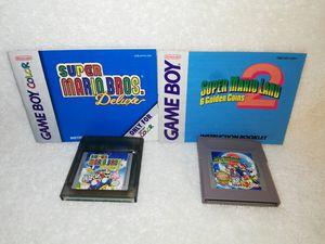 Nintendo GAMEBOY COLOR SUPER MARIO BROS DELUXE & SUPER MARIO LAND 2 MANUALS for Sale in Philadelphia, PA