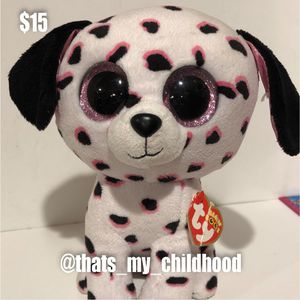 Georgia the Dalmatian Ty Beanie Boo's collection sold exclusively at Claire's plush stuffed animal doll toy dog for Sale in Phoenix, AZ