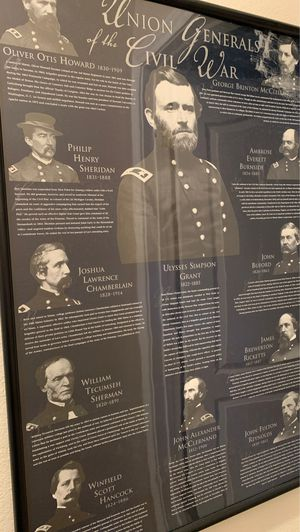 Nicely framed photos of the generals in the Union and Confederate armies during the Civil war. for Sale in Burleson, TX