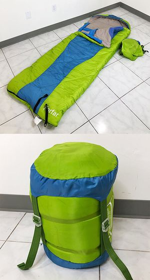 New in box $15 Camping Sleeping Bag Waterproof Indoor & Outdoor Hiking Lightweight w/ Portable Bag for Sale in Santa Fe Springs, CA