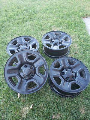 Jeep rubicon wrangler oem mopar wheels 17 x7.5 $280 obo for Sale in El Cajon, CA