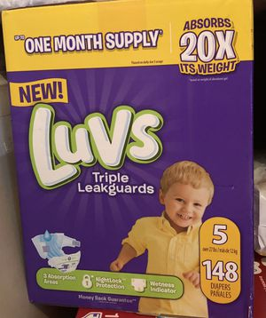 Luvs Diaper. Brand new number5. 148 count. for Sale in Murray, UT