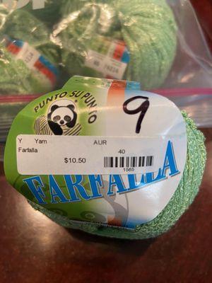 Yarn (10) Rolls - Punto Su Punto - Farfalla for Sale in Encinitas, CA