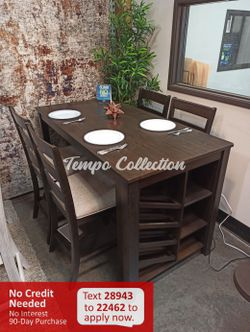 New 5pc Dounter Height Dining Set, Brown, SKU# ASHD397-32TC for Sale in Santa Fe Springs,  CA