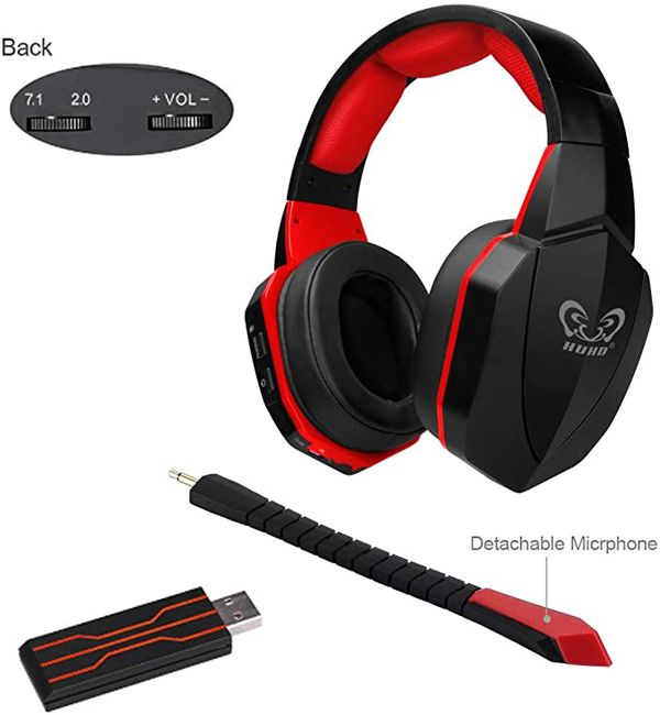 Wireless USB Gaming Headset for PS4 PC Computer Over Ear Comfortable
