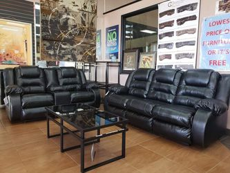 Ashley Brand New Black Reclining Sofa and Loveseat for Sale in Austin,  TX