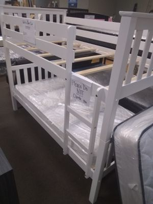 Twin size bunk bed with Mattresses included for Sale in Glendale, AZ