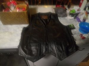 New leather biker vest for Sale in Smithfield, NC