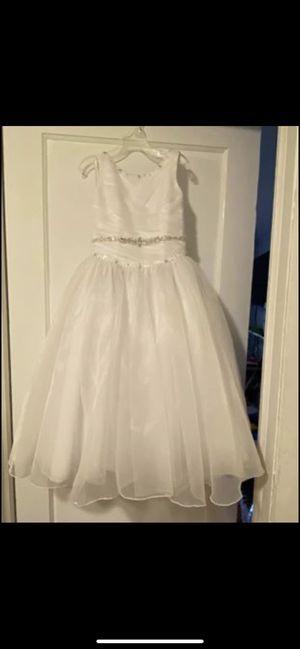 Girls size 6 flower girl dress and veil or communion for Sale in Audubon, NJ