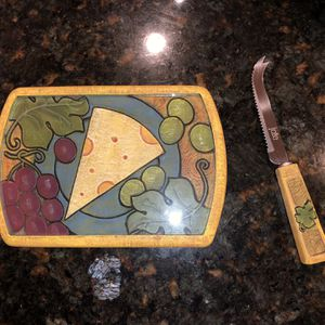 Vintage Joie De Vivre Cheese Cutting Board Knife Set for Sale in Washington, DC