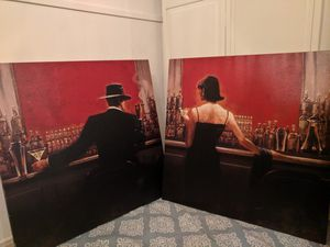 Cigar Bar Canvas Paintings Brent Lynch for Sale in San Mateo, CA