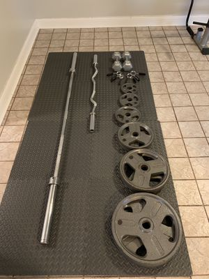 Weights and bench set for Sale in Elmwood Park, IL