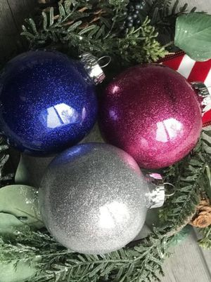 Homemade glitter ornaments for Sale in Cheyenne, WY
