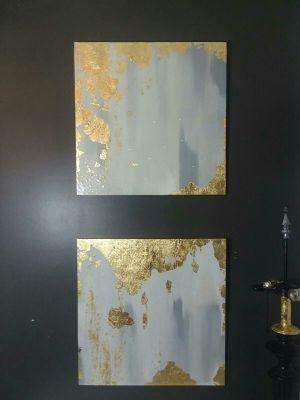 Set fire place mantel art abstract modern for Sale in Smyrna, GA