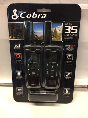 Brand New Sealed COBRA CXR925 Two Way Radio Walkie Talkie with Earbud and Mic for Sale in Miami, FL