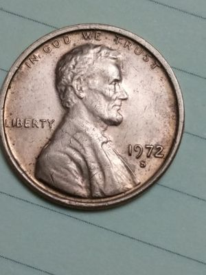 Appears to be 1972 s/s mint mark error Lincoln memorial cent for Sale in Moreno Valley, CA