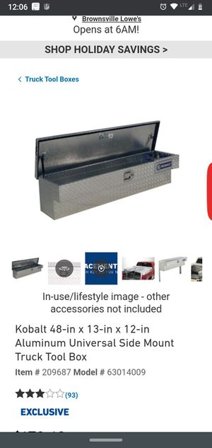 Side tool box universal for Sale in Brownsville, TX