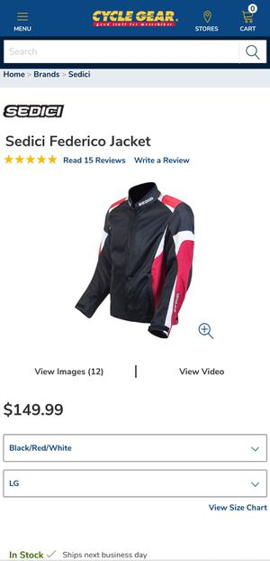 Sedici Federico Red Motorcycle jacket (Large) for Sale in Los Angeles, CA