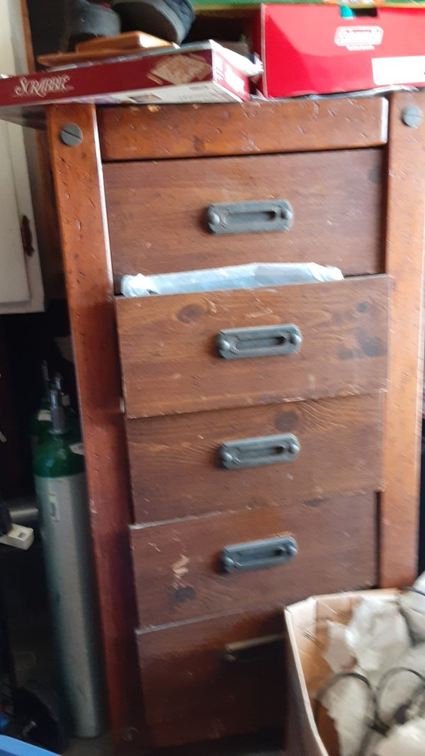 Antique solid wood trunk drawers