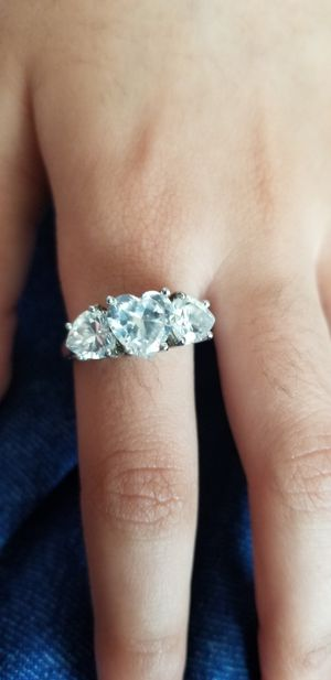 Heart shape sterling silver Ring size 8.5 for Sale in Chicago, IL