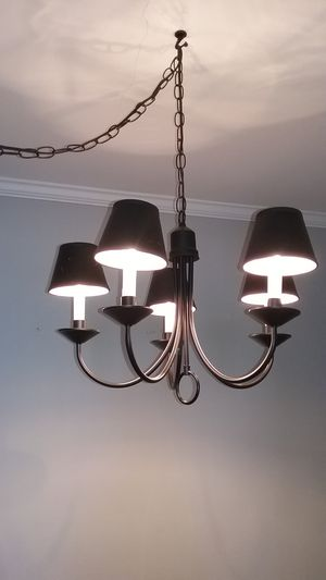 Black Chandelier with 5 Shades for Sale in New York, NY